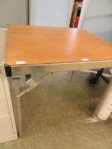 An aluminium folding table