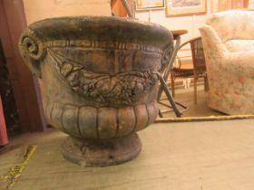 A modern garden stoneware pot