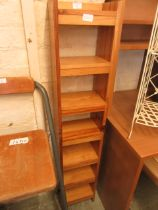 A modern pine shelf unit