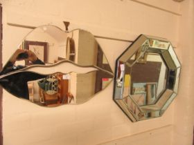 Two modern wall mirrors