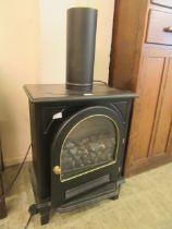 A modern wood burner effect electric fire