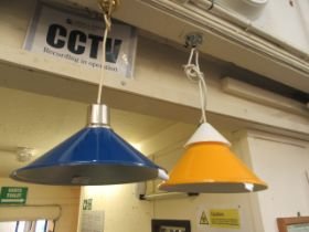 Two mid-20th century ceiling light fitments,