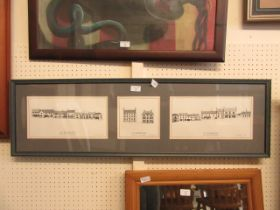A framed and glazed limited edition display of 'Old Kenilworth High Street' by JA Davies