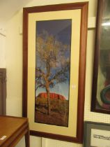 A framed and glazed photographic print titled 'Red Centre of Australia' 11 of 200 signed Ken Duncan