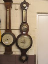A 19th century rosewood banjo barometer (A/F)