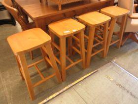 A set of four stools