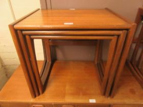 A G-Plan nest of three teak occasional tables