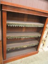 A late Victorian mahogany open bookcase