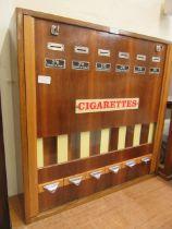 A mid-20th century cigarette vending machine