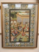 A framed and glazed eastern print