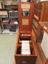A mahogany cased shop till