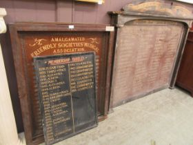 Three wooden Masonic panels