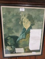 A framed and glazed print 'Sir William Orpen'