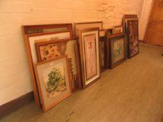 A large selection of framed and glazed frames, prints, artworks,