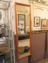 A pine framed mirror