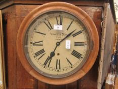 A 19th century oak wall clock by Yonge and sons of London