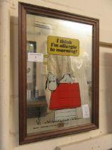 A Snoopy mirror