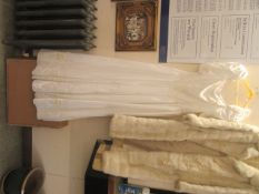 A wedding dress purportedly from Harrods