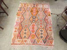 A Turkish flat woven kilim