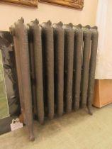 A 19th century cast iron ornate radiator (A/F)