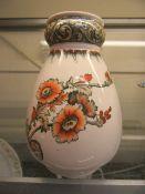 A Doulton Burslem ceramic vase with floral design