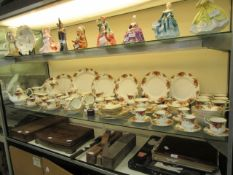 A large collection of Royal Albert 'old country roses' tableware comprising of cups, saucers,