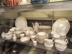 A part Duchess 'Greensleeves' dinner set comprising of plates, tureens, meat plates, cups, saucers,
