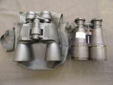 Two pairs of binoculars,