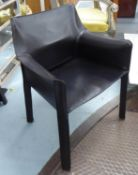 CASSINA 413 CAB CHAIR, by Mario Bellini, 80.5cm H approx.