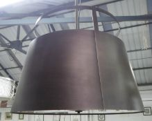 TAYLOR HOWES CEILING LAMP, with a metal shade, 61cm W x 45cm H.