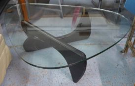 AFTER ISAMU NOGUCHI, Noguchi style table, 90cm x 125cm x 40cm approx.