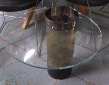 SIDE TABLE, contemporary Italian style design, 48cm H x 50cm Diam approx.