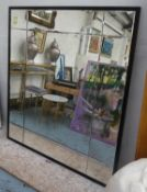 WALL MIRROR, by Taylor Howes with a divided and antiqued plate, 140cm W x 160cm H.