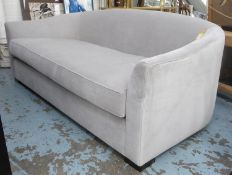 TAYLOR HOWES SOFA, in grey chenille, 202cm W. (slight marks to fabric)