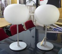 FLOS GLO BALL TABLE LAMPS, a pair, by Jasper Morrison, 60cm tall approx. (2)