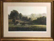 LANFORD MONROE (1950-2000) 'Lazy Afternoon', lithograph, signed in pencil labelled verso, 50cm x