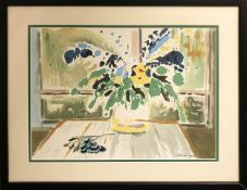 MURIEL PETERSEN 'Still Life of Flowers', gouache, signed, 30cm x 40cm, framed.