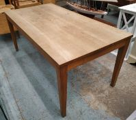LAMPBERT DINING TABLE, oak with drawers to either end and raised on square tapered supports, 76cm