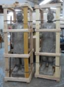 FAUX CHINESE TERRACOTTA STYLE WARRIORS, a pair, 150cm H. (2)