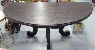 JULIAN CHICHESTER DANNY CONSOLE TABLE, black cerused oak, 153cm x 77cm x 77cm. (slight faults)