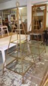 DISPLAY STANDS, two, to match previous lot, 200cm H x 80cm x 80cm and 180cm H x 77cm x 72cm. (2) (