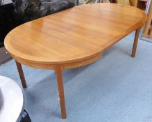 TROEDS EXTENDABLE DINING TABLE, by Nils Jonsson, vintage 1960's Swedish teak, 115cm diam, extendable