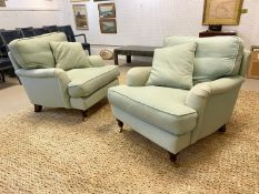 SOFA.COM BLUEBELL ARMCHAIRS, a pair, 80cmH x 84cmW x 92cmD. (2) (with faults).