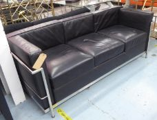 AFTER LE CORBUSIER LC3 STYLE SOFA, 180cm W approx.