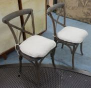 SIDE CHAIRS, a pair, 89cm H. (2)