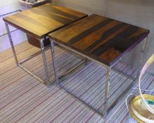 SIDE TABLES, a pair, 20th century style, 55cm x 55cm x 54cm. (2) (with slight faults)