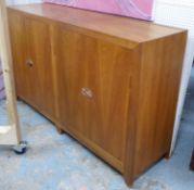 SIDEBOARD, Liberty style, fruitwood with two pairs of cupboard doors with copper latches, 50cm D x