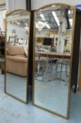 WALL MIRRORS, a pair, 1960's French style, 150cm x 60cm. (2)