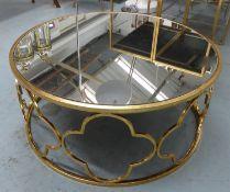 LOW TABLE, Maison Jansen style, gilt metal, 79cm diam x 35cm H.