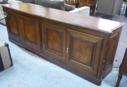 SIDEBOARD, contemporary fruitwood, 234cm x 51cm x 83cm. (slight faults)